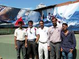 "The Match-race: ""Dream Team"" crew, India"